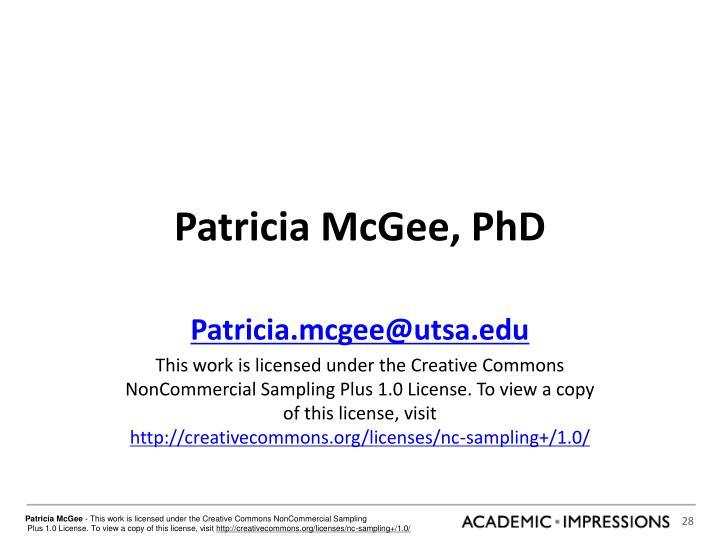 Patricia McGee, PhD