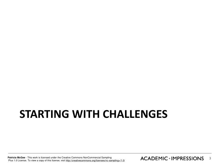 Starting with Challenges