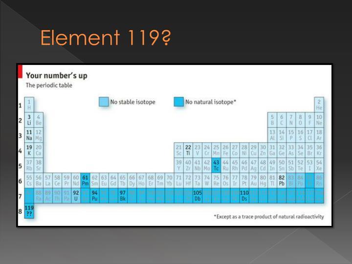 Element 119?
