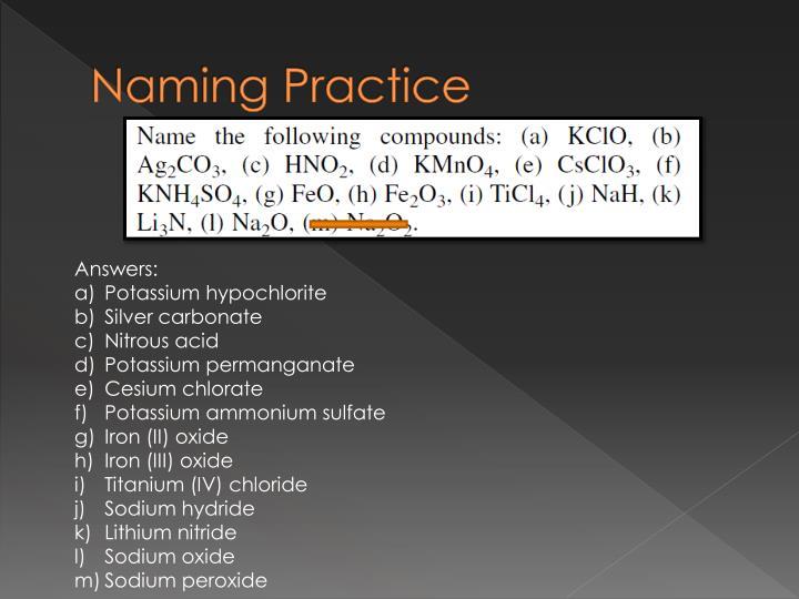 Naming Practice
