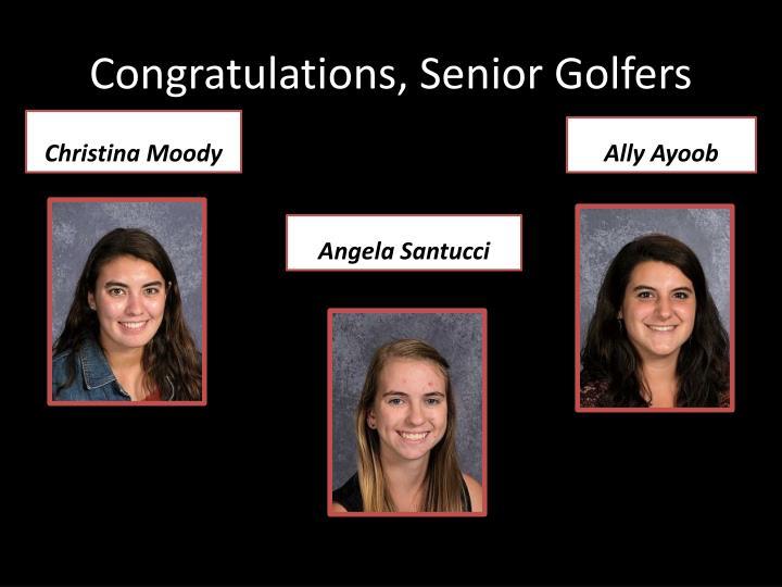 Congratulations, Senior Golfers