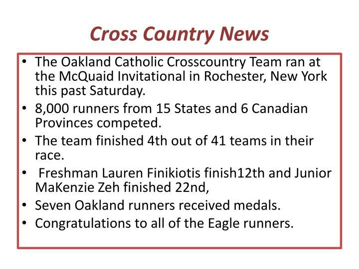 Cross Country News