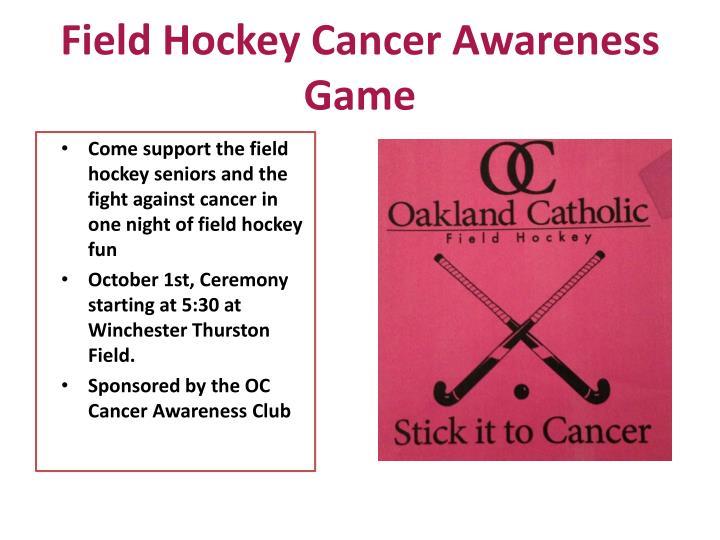 Field Hockey Cancer Awareness Game