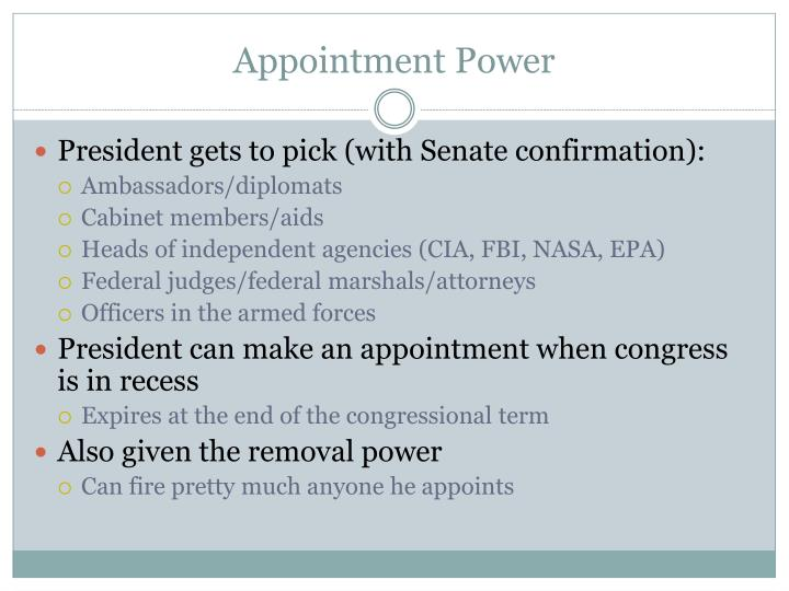 Appointment Power