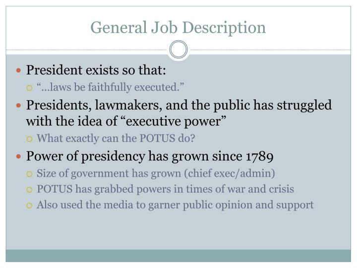 General Job Description