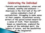 celebrating the individual