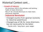 historical context cont