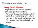 transcendentalists cont