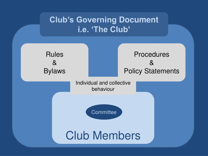 Club's Governing