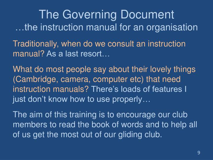 The Governing Document