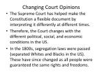 changing court opinions