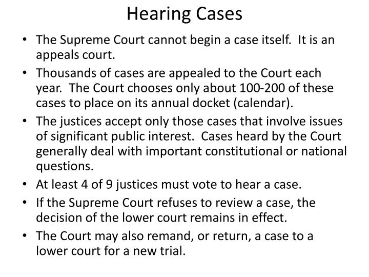 Hearing Cases