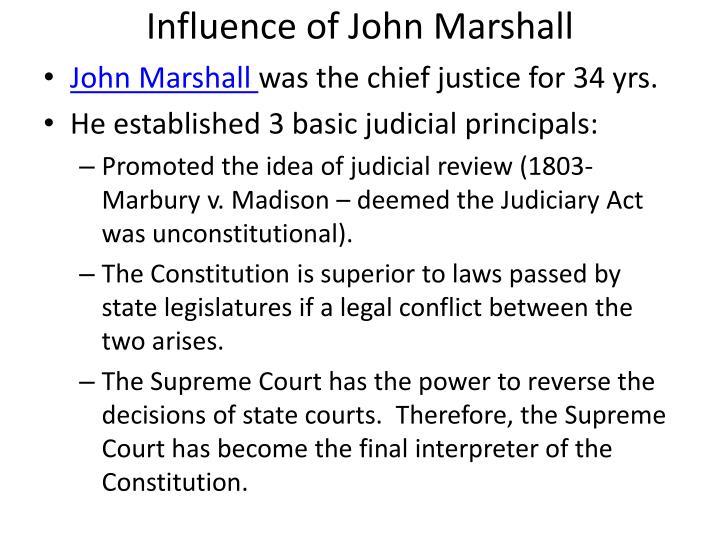 Influence of John Marshall