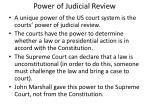 power of judicial review