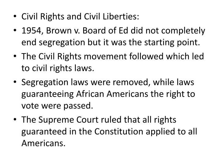 Civil Rights and Civil Liberties: