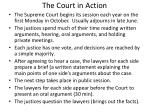 the court in action