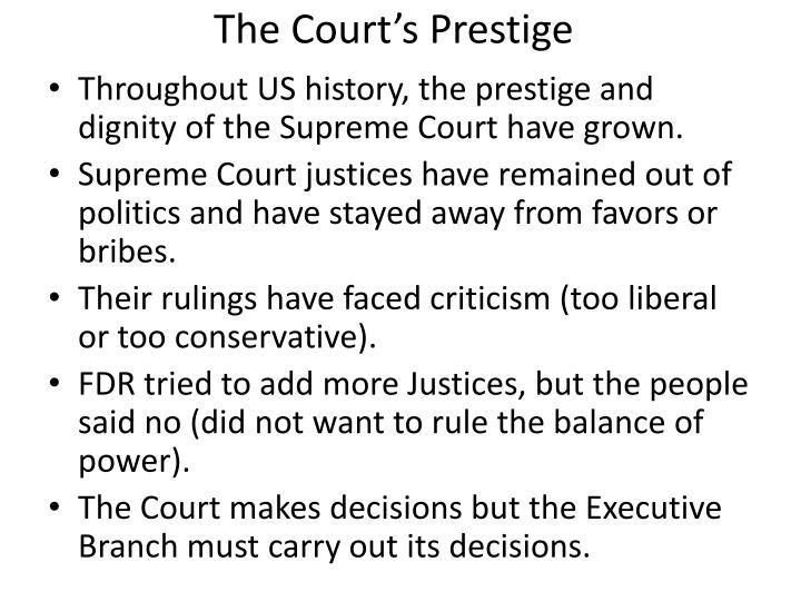The Court's Prestige