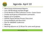 agenda april 10