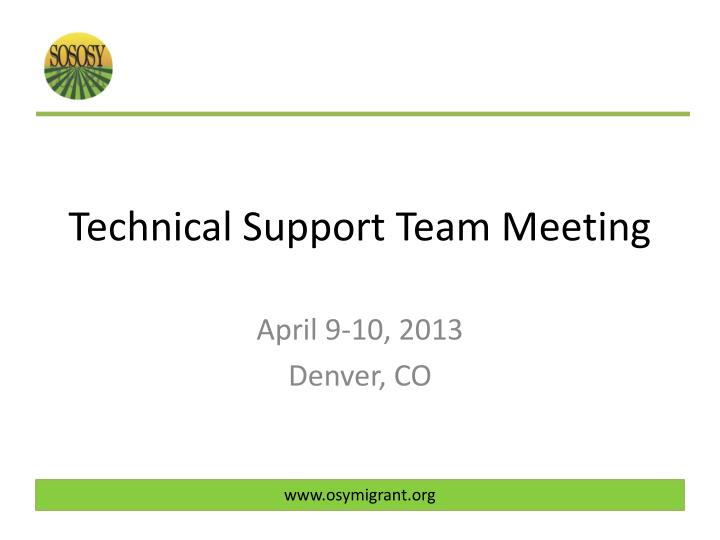 technical support team meeting