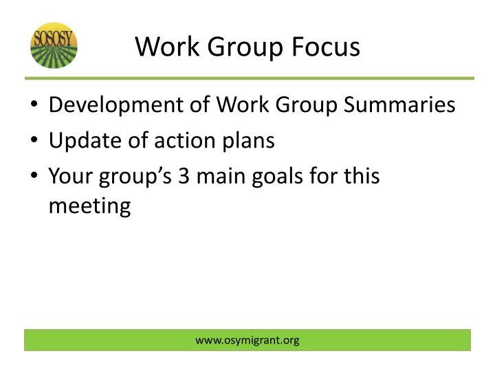 Work Group Focus