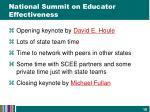 national summit on educator effectiveness1