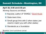 summit schedule washington dc1