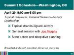 summit schedule washington dc2