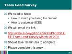 team lead survey1