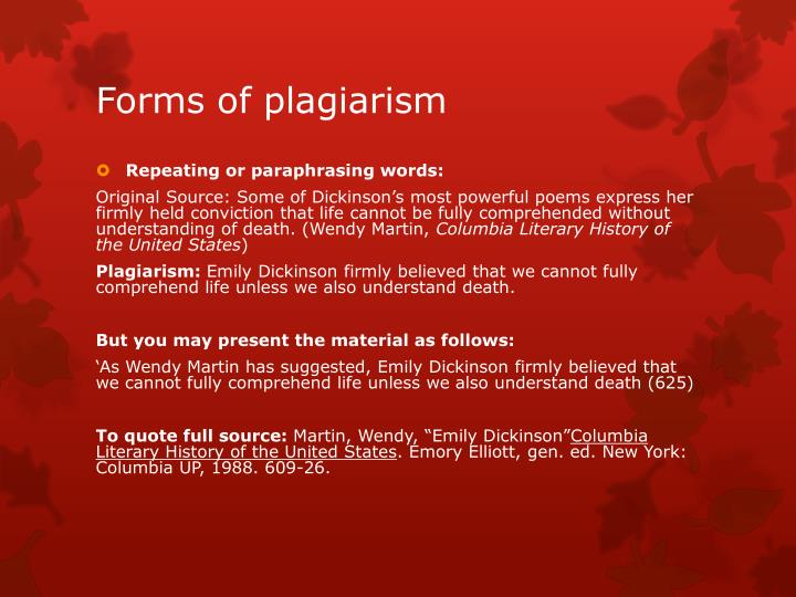 Forms of plagiarism