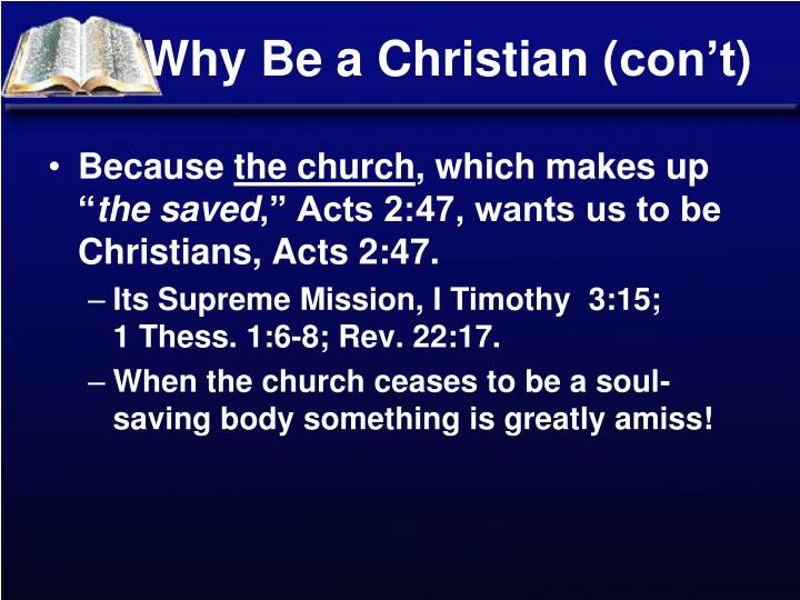 Why Be a Christian (