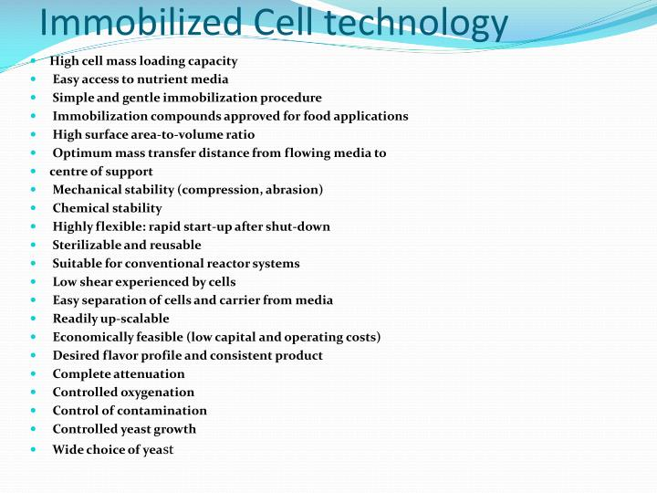 Immobilized Cell technology