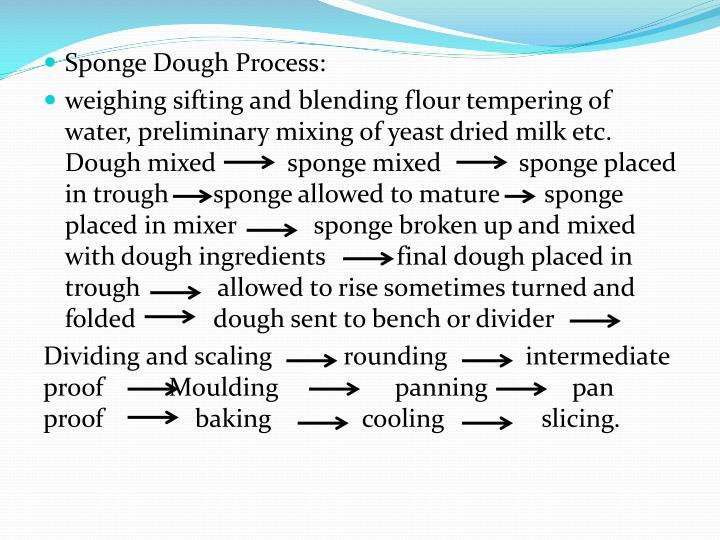 Sponge Dough Process: