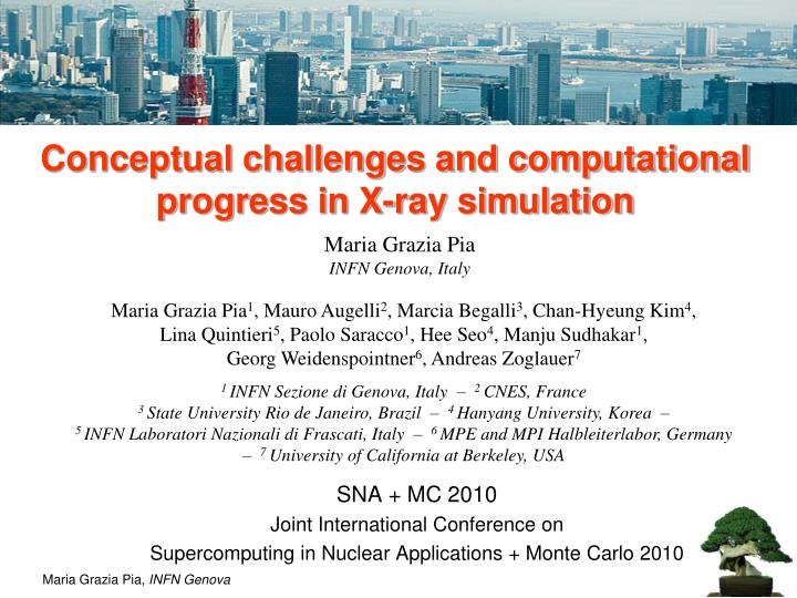 conceptual challenges and computational progress in x ray simulation