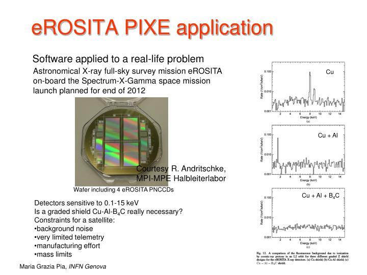 eROSITA PIXE application