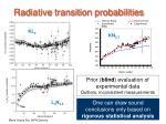 radiative transition probabilities