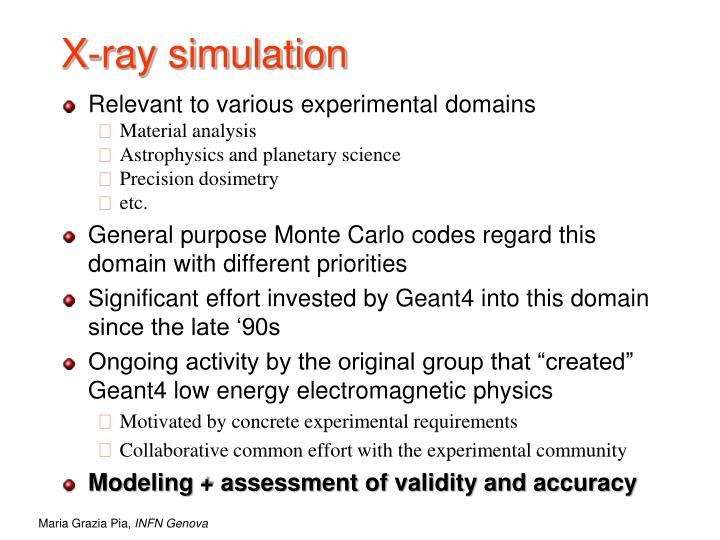 X-ray simulation