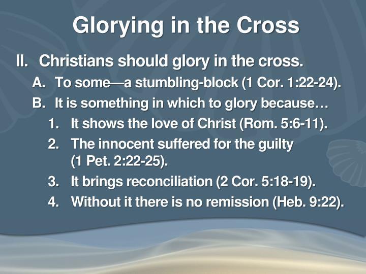 Glorying in the Cross