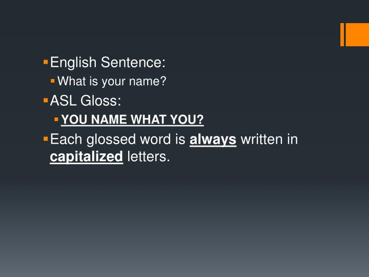 English Sentence:
