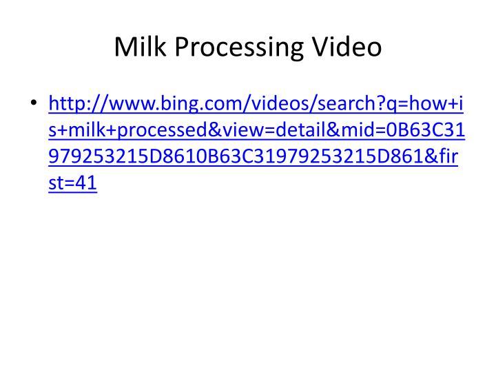 Milk Processing Video