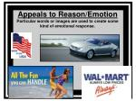appeals to reason emotion