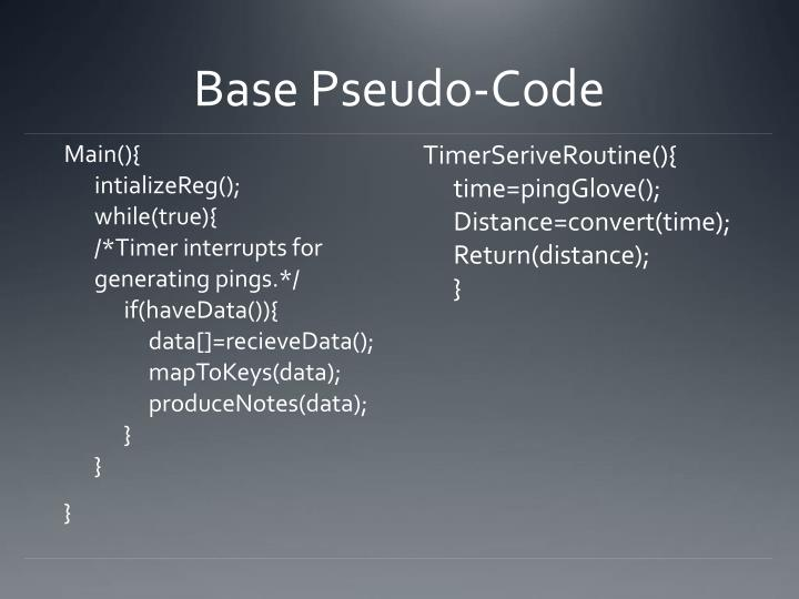 Base Pseudo-Code