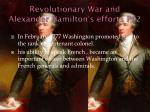revolutionary war and alexander hamilton s efforts pt 2