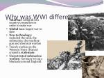 why was wwi different