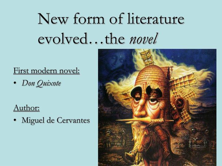 New form of literature evolved…the