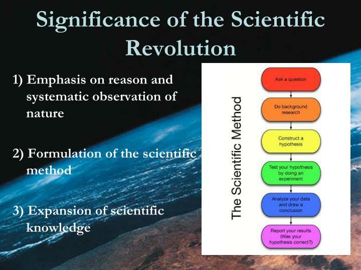 Significance of the Scientific Revolution