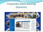 frequently asked advising questions