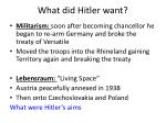 what did hitler want