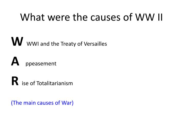 What were the causes of WW II
