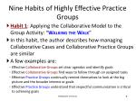nine habits of highly effective practice groups2