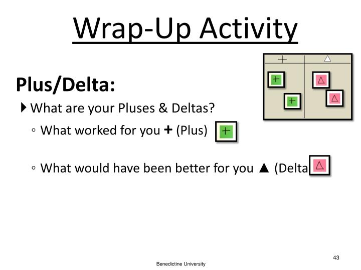 Wrap-Up Activity